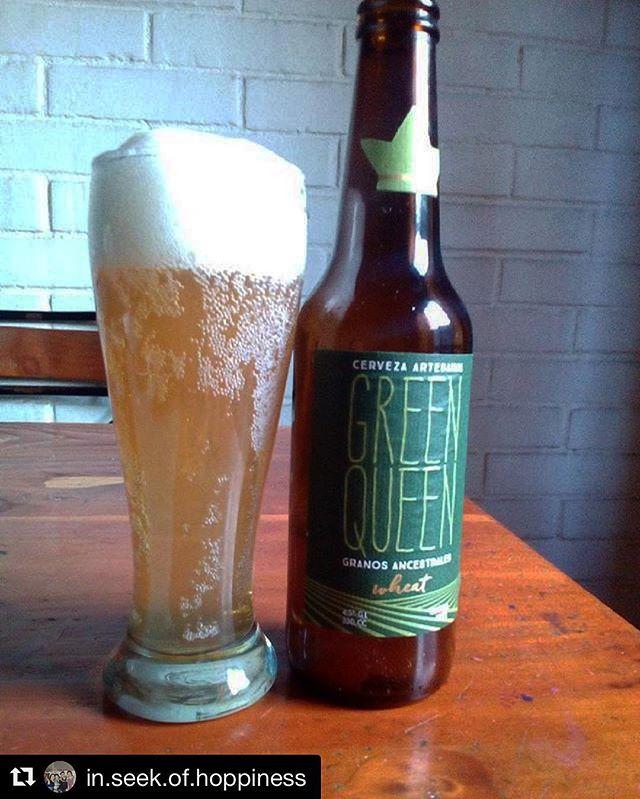 Salúd @in.seek.of.hoppiness 🍻 #gqbeer #glutenfree #beer #greenqueen