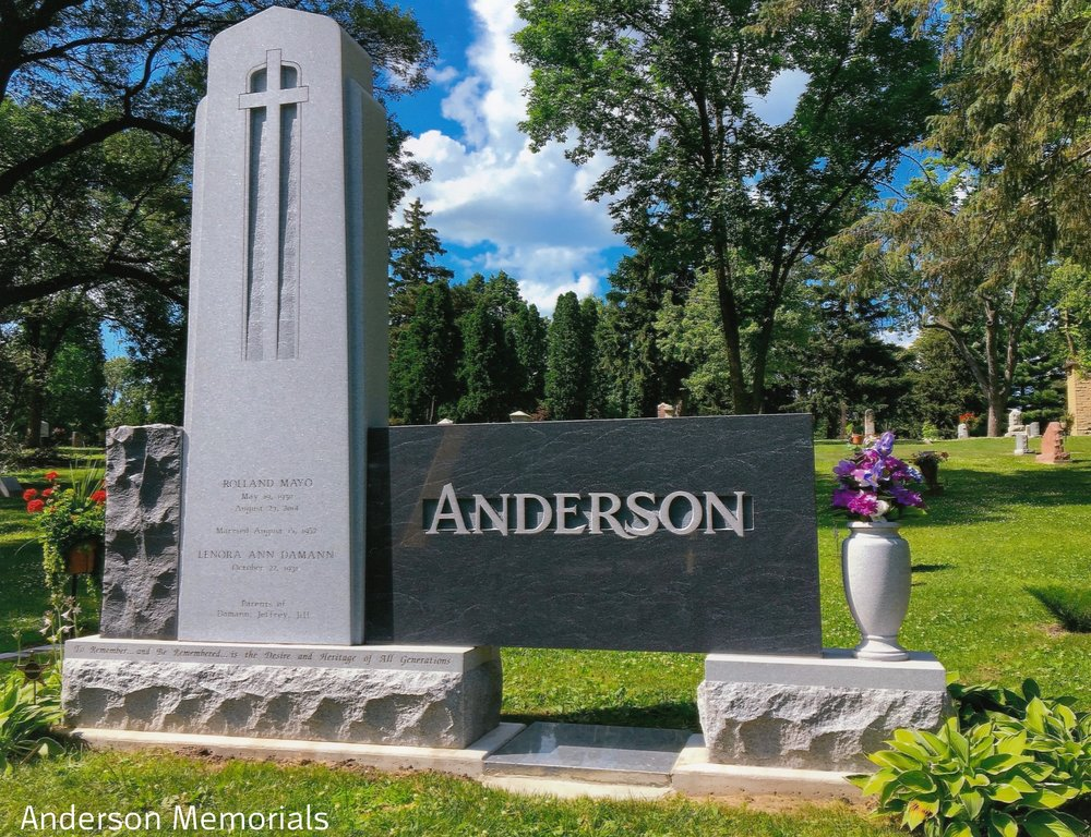 "1st Place Large Monuments ""Anderson"", Anderson Memorials, Jeff Anderson, CM, AICA"