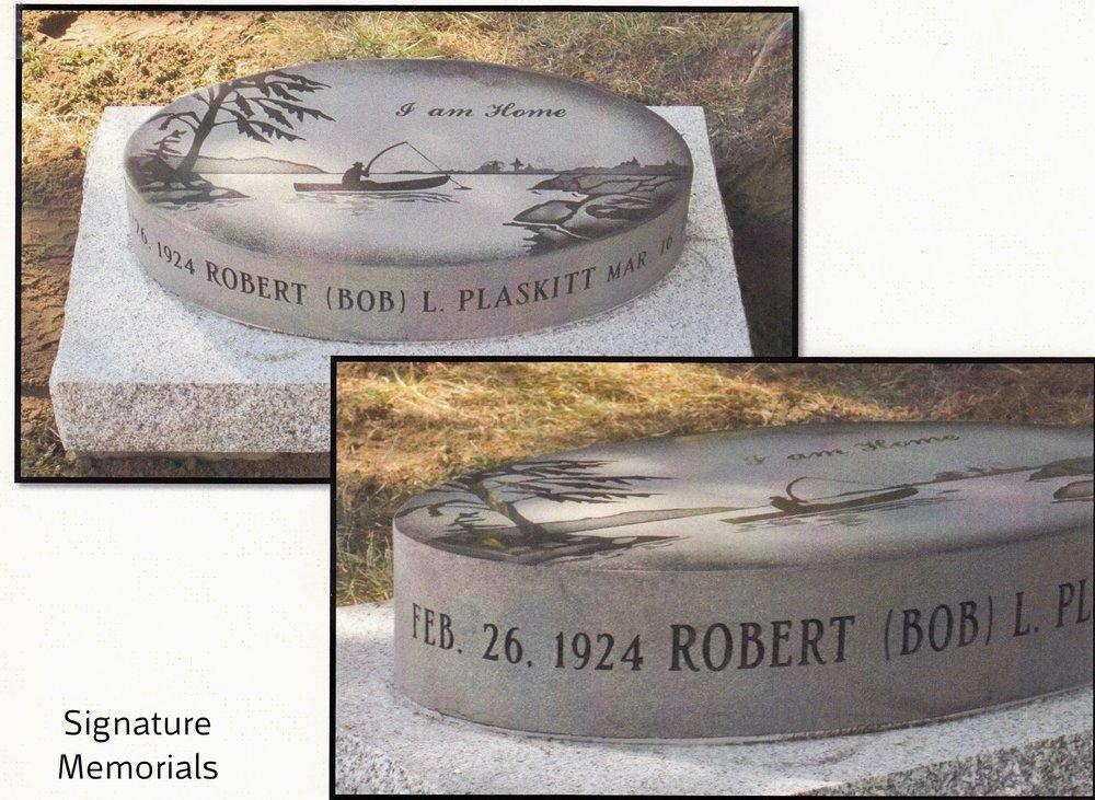 """1st Place Bevel Memorials """"Plaski]"""", Signature Memorials, Stephen Sanderson, AICA"""