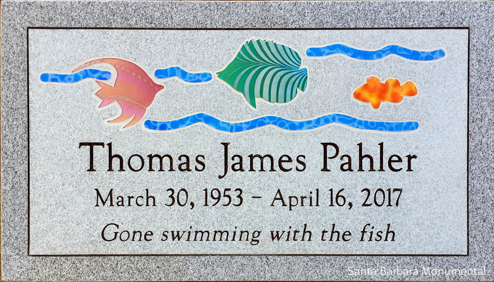"2nd Place Flat Memorials ""Pahler"", Santa Barbara Monumental, Jed Hendrickson, CM, AICA"