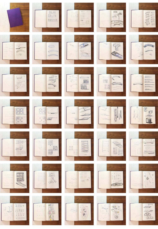 Sketches on paper Semikolon Classic Letter/A4 Size Bound Linen.