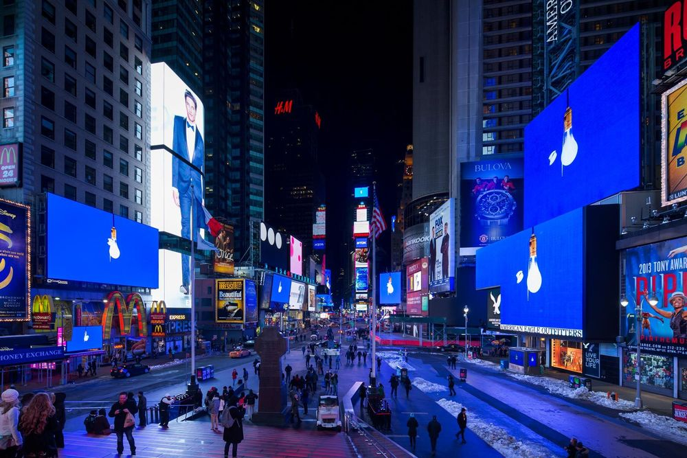 Times Square Installation, Photo by James Ewing