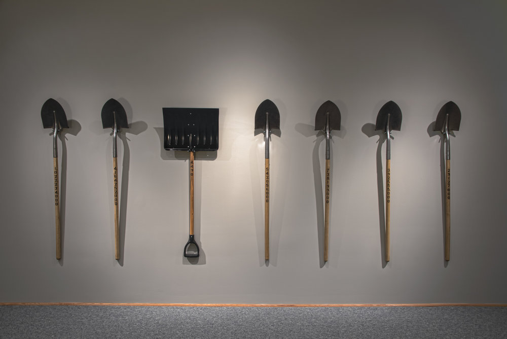 Readymade Shovels with Enamel Paint                                                                                                                                                                           53 ½   x 8 ½ x 1   ½   in | 136 x 21.6 x 3.8 cm                                                                                                                                                                                                                                   2016