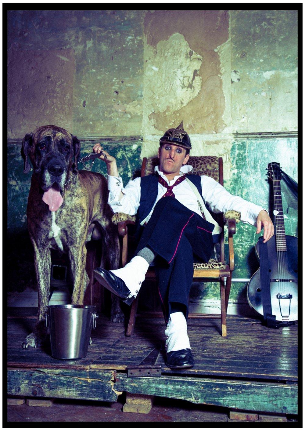 A6 postcard front portrait 'dog guitar'.jpeg