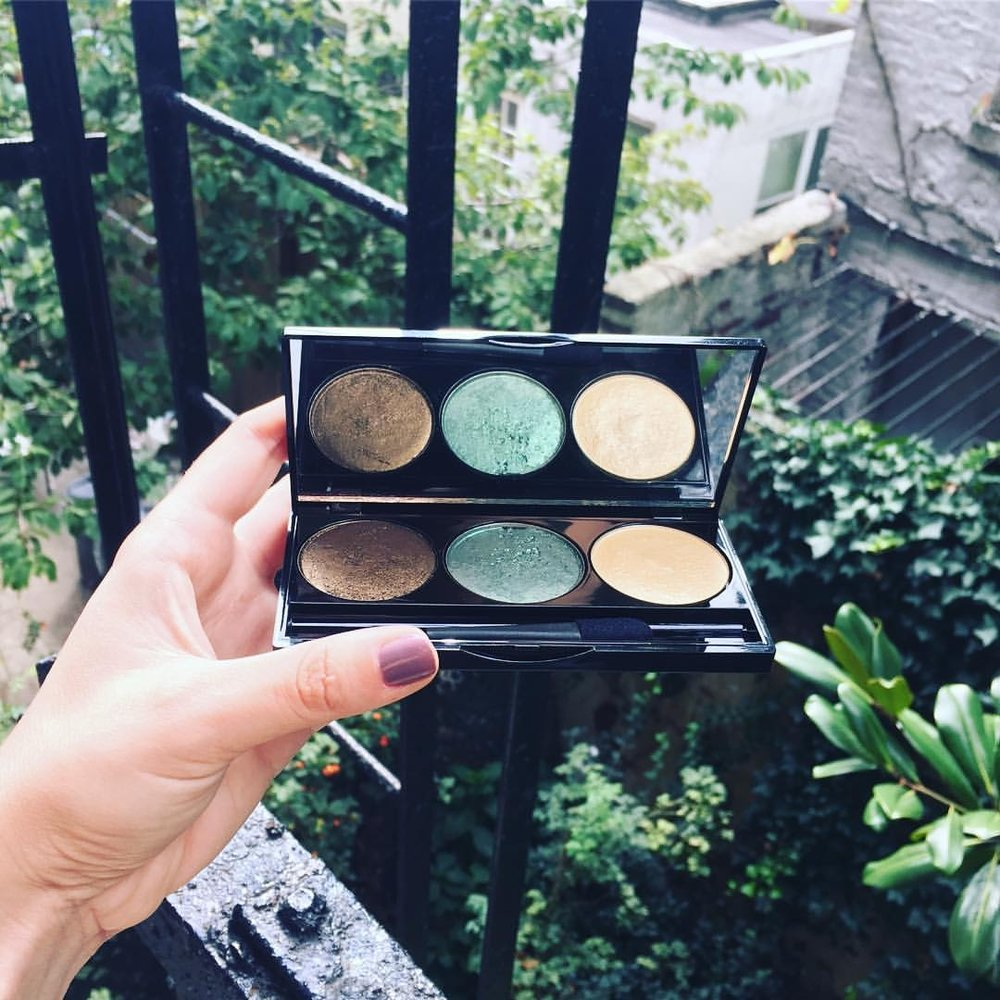 All Natural Mineral Eyeshadow Palette in Sweet Leaf - $35