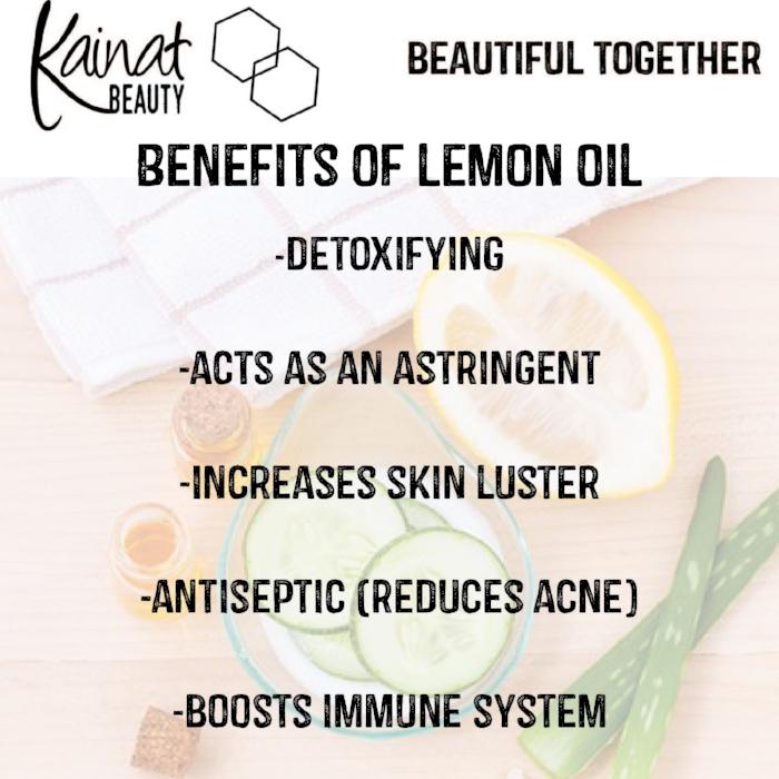 lemon oil, lemon essential oil, benefits of lemon on skin