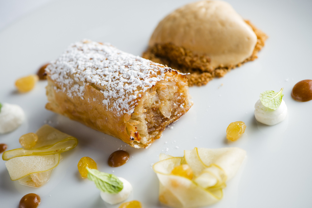 Pear Strudel, Caramel Ice Cream