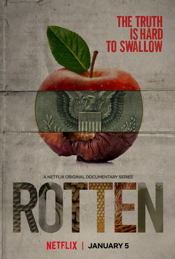 Rotten (2018) - The Netflix Original Series Rotten is a six-part series that touches on different controversial aspects of where our food comes from and the politics around the business of food. From the controversial claims behind garlic practices in China, to why our bodies are rejecting the food we eat and uncovering why allergies are at an all-time high. Rotten really digs deep into the industrial side of food and how consumers could be concerned for how their food is made.