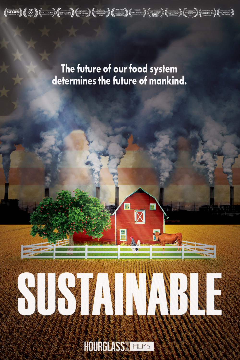 Sustainable (2016) - This feature-length film shows how farmers use different methods to help change the way they produce food and how people eat in the United States today. Growers believe these methods will help create a more sustainable future. Chef Rick Bayless talks about his belief in the power of local farms and the opportunity he has as a chef to help reconnect our food supply. This film definitely has a more cool-headed tone to it, as opposed to a strong emphasis on heavy shock-value type facts. It really gets you thinking,