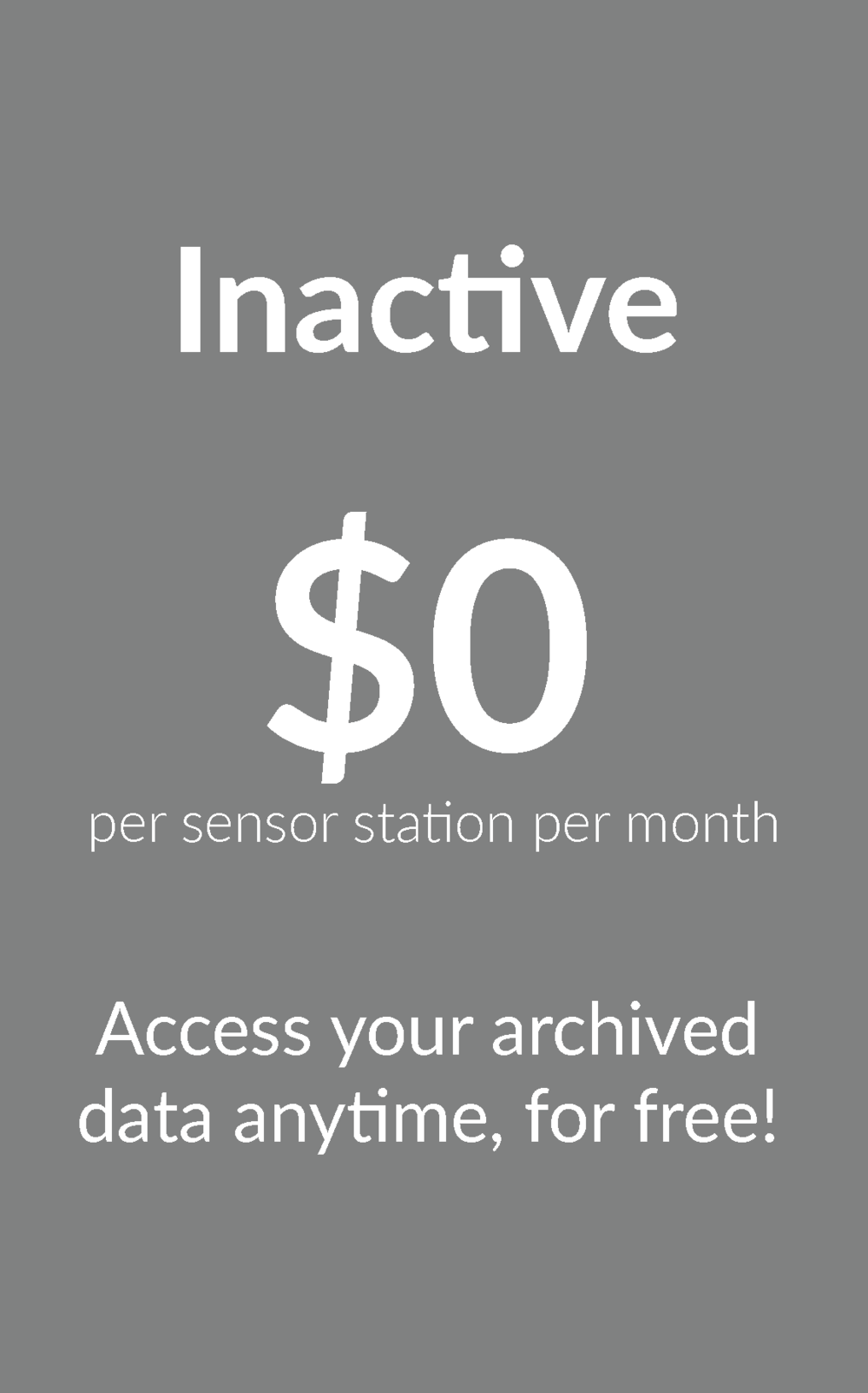 Inactive Data Subscription