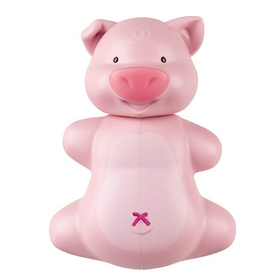 Piggy Toothbrush Cover - This adorable pig toothbrush cover sticks to the mirror and will help keep the bathroom organized! There's also a cow option. $5.69