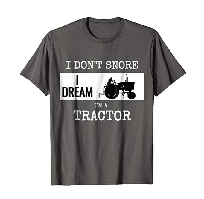 Tractor T-shirt - Someone will be sure to get a kick out of this tractor t-shirt! $19.99
