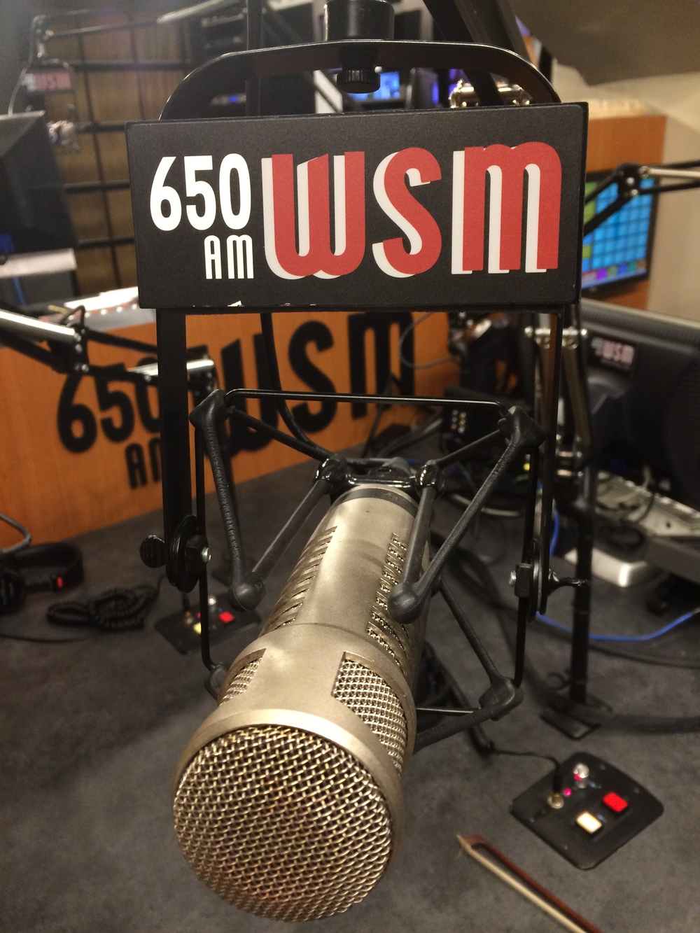 We played on the legendary WSM 650 am on May 26th!