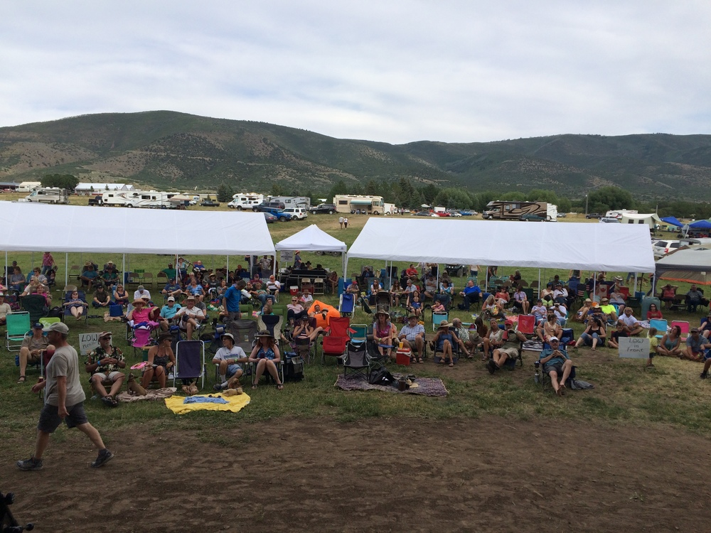 View from the stage at Wallsburg Music Festival!