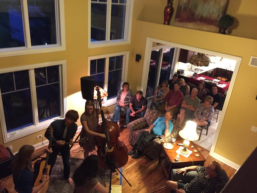 House concerts are the best.