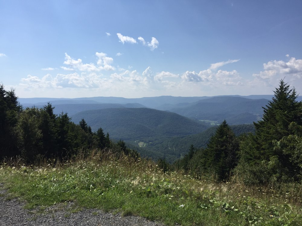 Views of West Virginia from our trip to Snowshoe Mountain!