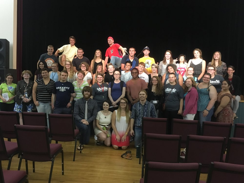 A big group of incoming Freshman at Ripon College came to see our show at Thrasher Opera House in Green Lake, WI.