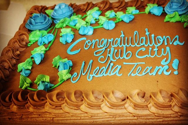 We always have room for cake - especially when it's for celebrating our team's hard work! #tech #it #teamwork #congratulations #hcm #hcmfriday