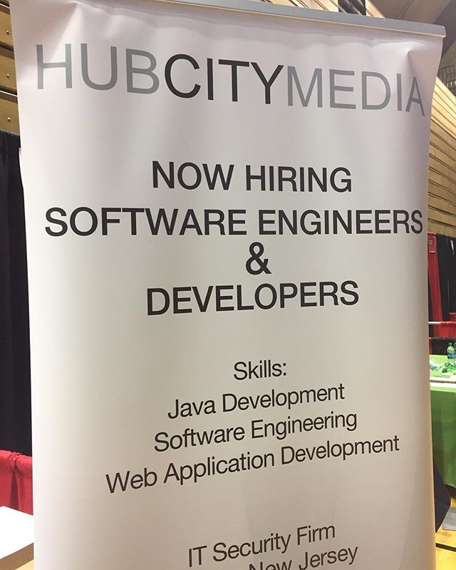 We're at the @rutgersu #careerfair today...stop by booth 39 to checkout our job offerings! ... ... #livingstoncampus #rutgers #ru #careers #graduate #it #engineer #software #tech #hcm #innovation