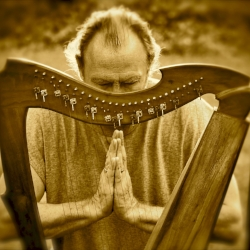 Jay Michaels will be playing harp at Lighthouse Yoga on July 28.
