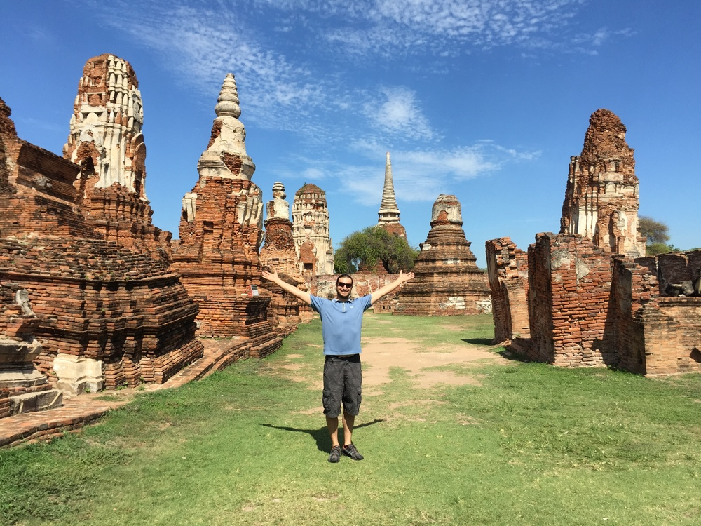 Tony, showing off the ancient city of Ayutthaya