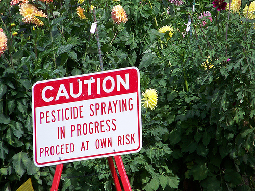 Pesticide Caution Sign