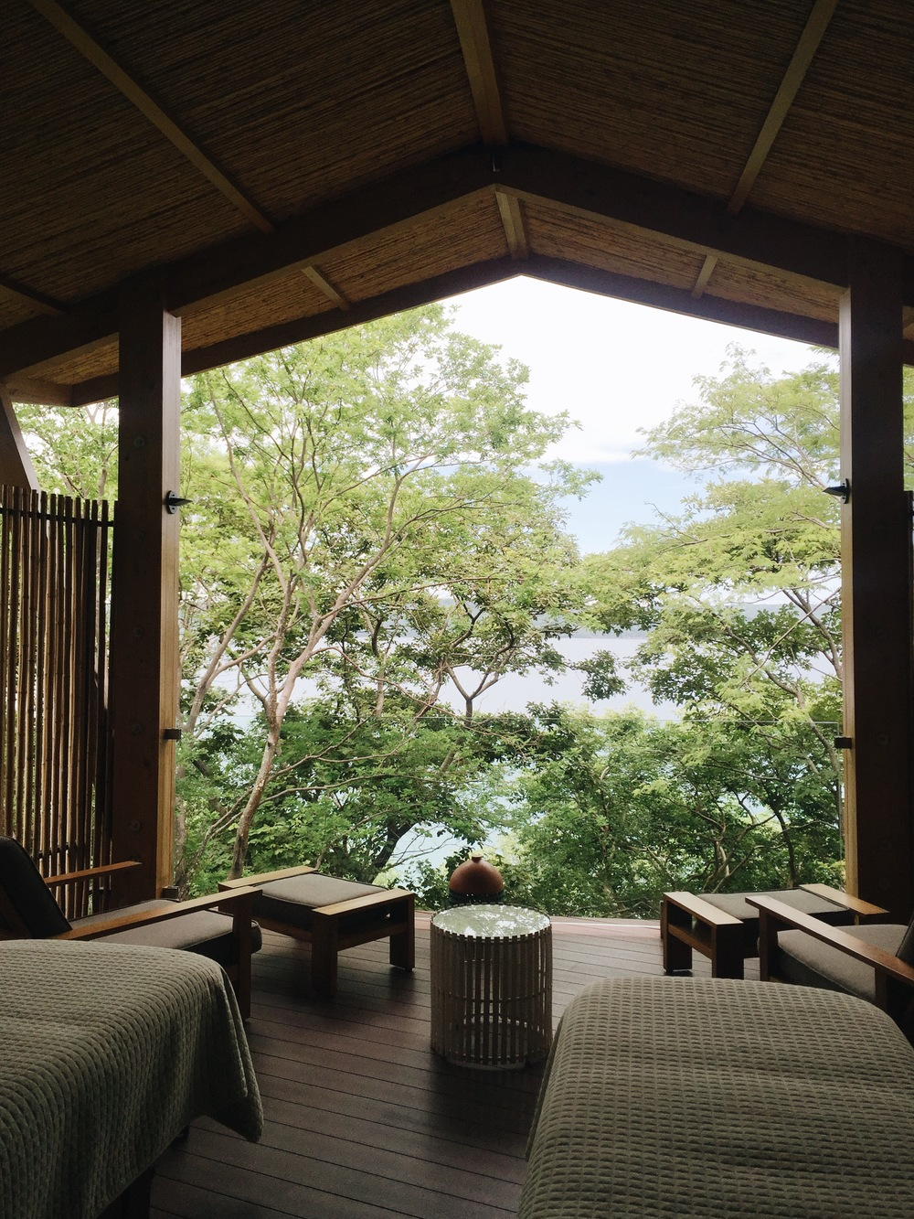 Massage with a view at the Andaz Papagayo.