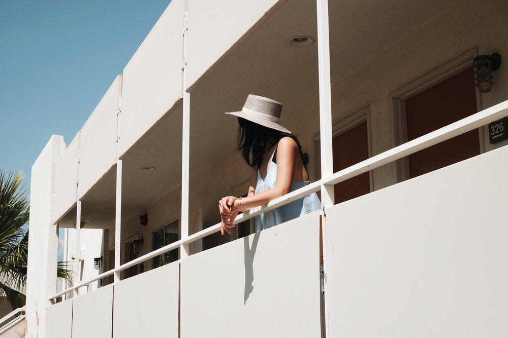 JANESSA LEONE Hat/ Zara Top