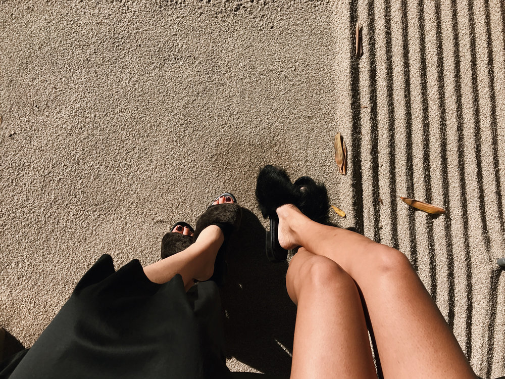 NEWBARK   Sandals   and TIBI   Sandals    Getting some sun with   Olivia  .
