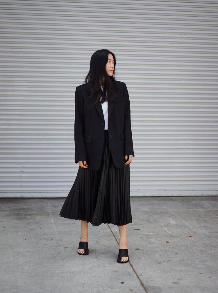 WALK OF SHAME    Shirt   / CÉLINE   Shoes   / ARITZIA   Blazer   and   Skirt   — See post   here