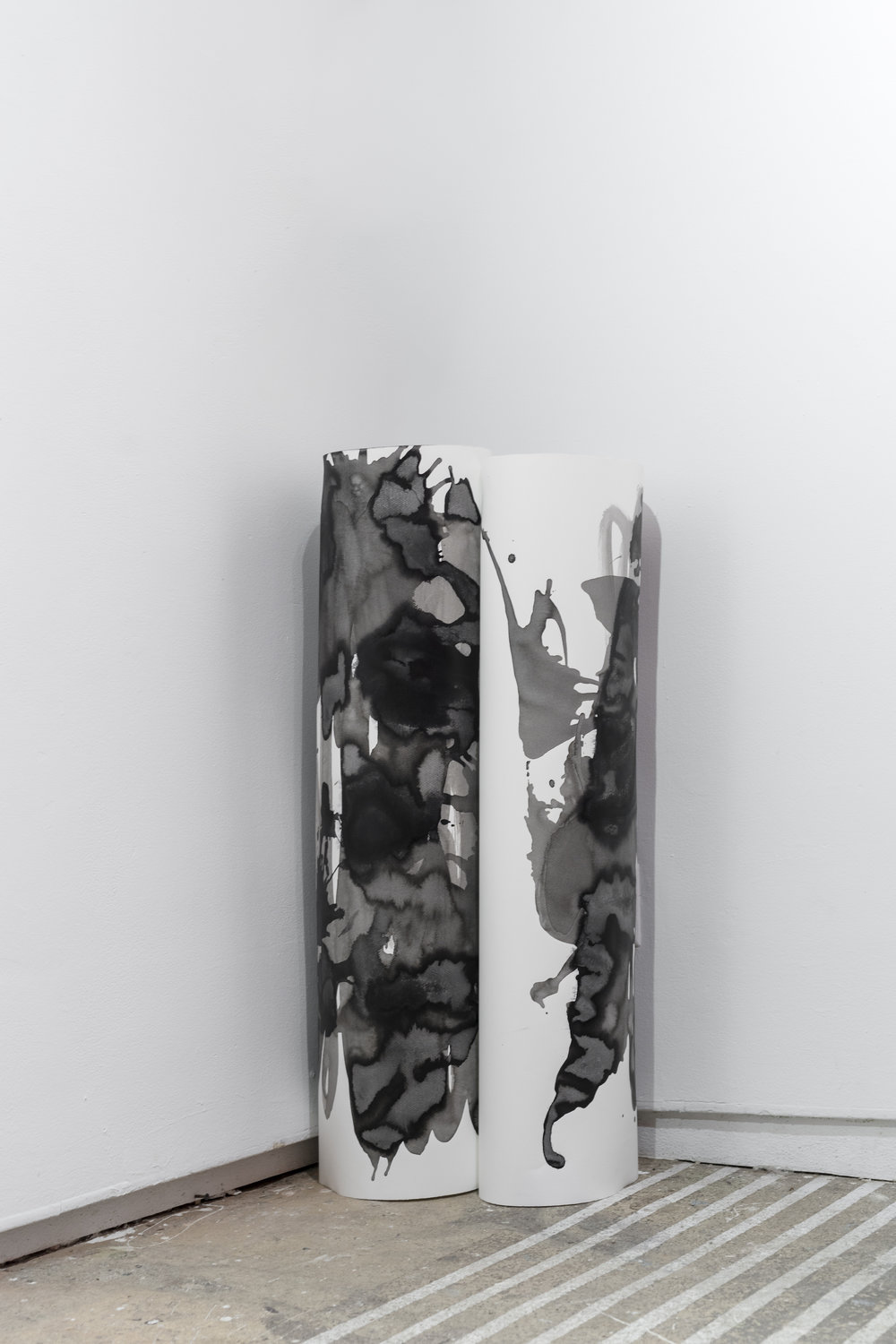Margrethe Aanestad    Untitled,   2016   Ink on aquarelle paper   Object, dimensions variable