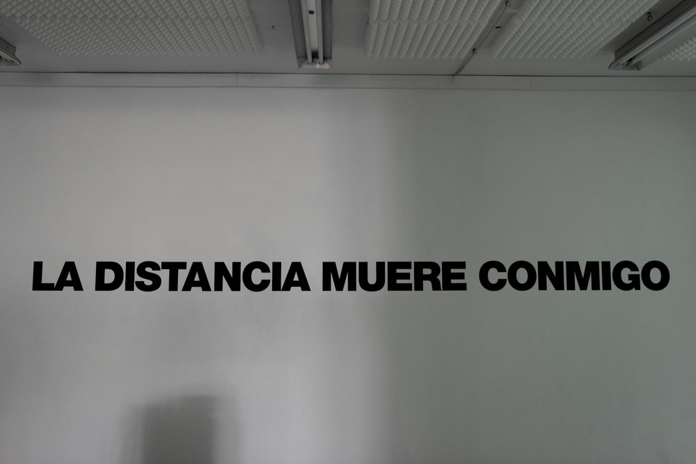 LA DISTANCIA MUERE CONMIGO (Distance dies with me)  , 2017  Ernesto Bautista Ed. 5 + ap and exhibition copy