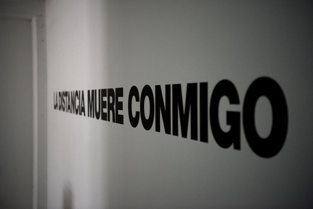 LA DISTANCIA MUERE CONMIGO (Distance dies with me)  , 2017  Ernesto Bautista Ed. 5 + ap and exhibition copy