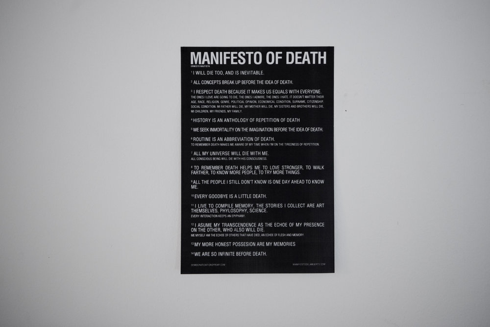 Detail  MANIFESTO OF DEATH , 2012-2016 (Ernesto Bautista)