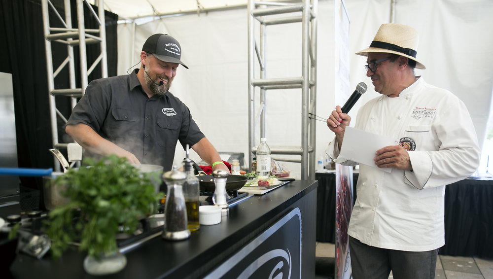 The Chef in the Hat, Thierry Rautureau with Chef Jed Laprade, Beardslee Public House.