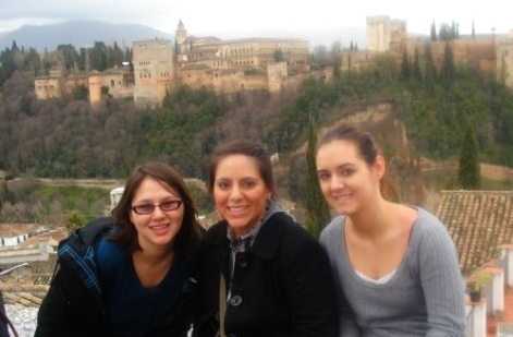 From Left to Right, Lorena, Samantha, Sarah                2009 in Granada, Spain