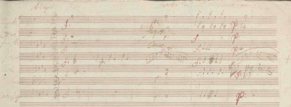 Beethoven's autograph manuscript of the Septet op.20. Image from the website of the Jagiellonian Library, Krakow, Poland.