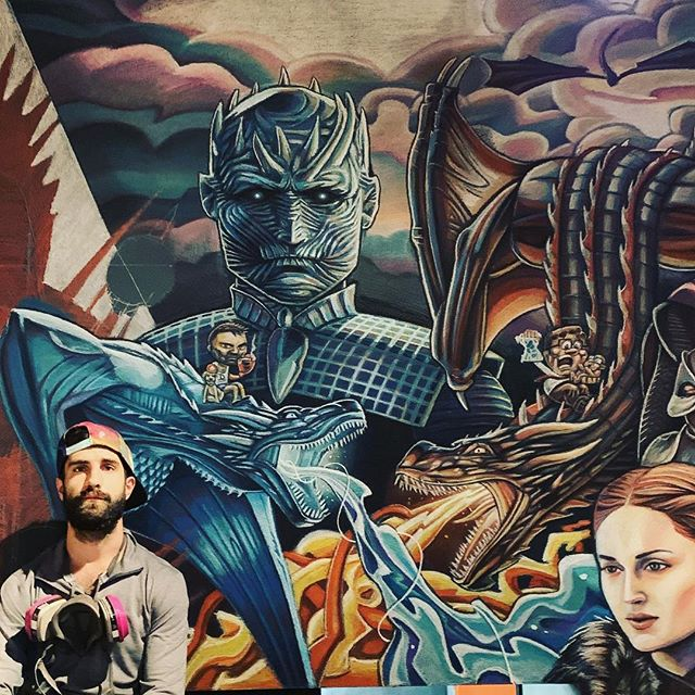 Fire and ice Game of Joes is close to completion. Have a nice day✌🏼 📸 @becca__joy  #gotdragons #fireandice #gameofthrones #gameofthronesmemes #gameofthronesfamily #gameofthronesseason7 #gameofthrones8 #hbogo #hbogameofthrones #gameofthroneshboseries #nightking #thenightking #duelingdragons #dragonsketch #dragons