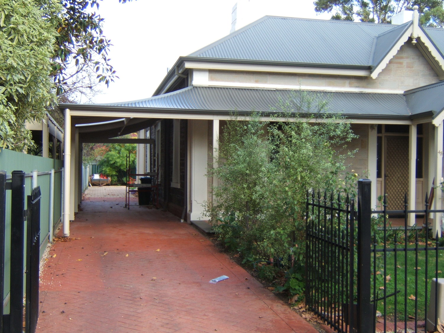 return style concave verandah and carport unley