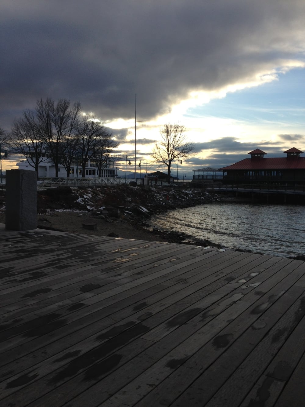 Lake Champlain water front.