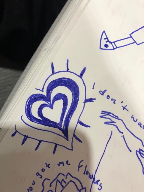 My go to doodle is either 1) a heart or…