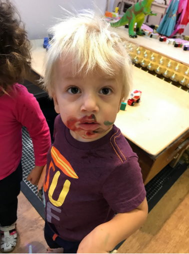 Nicholas is never afraid to get messy!