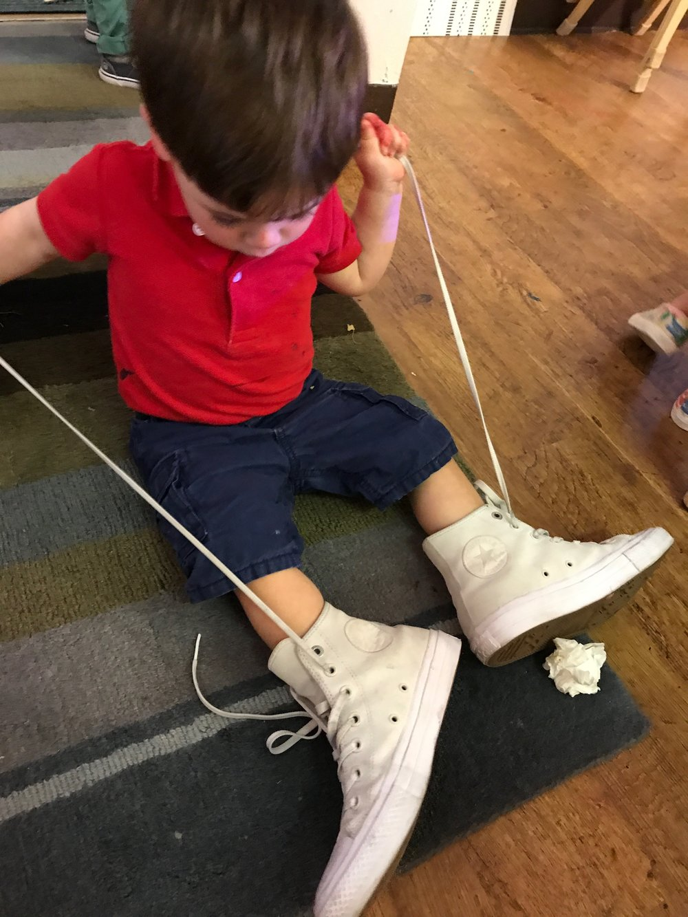 Dylan sat down and found these adult sneakers to try out. Part of our identity is our curiosity and our preferences.