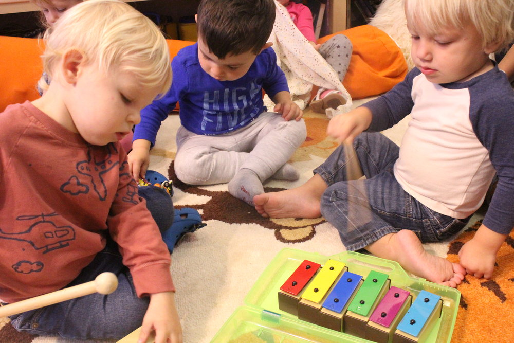 Continued musical explorations with 2A friends. The xylophone is always a favorite!