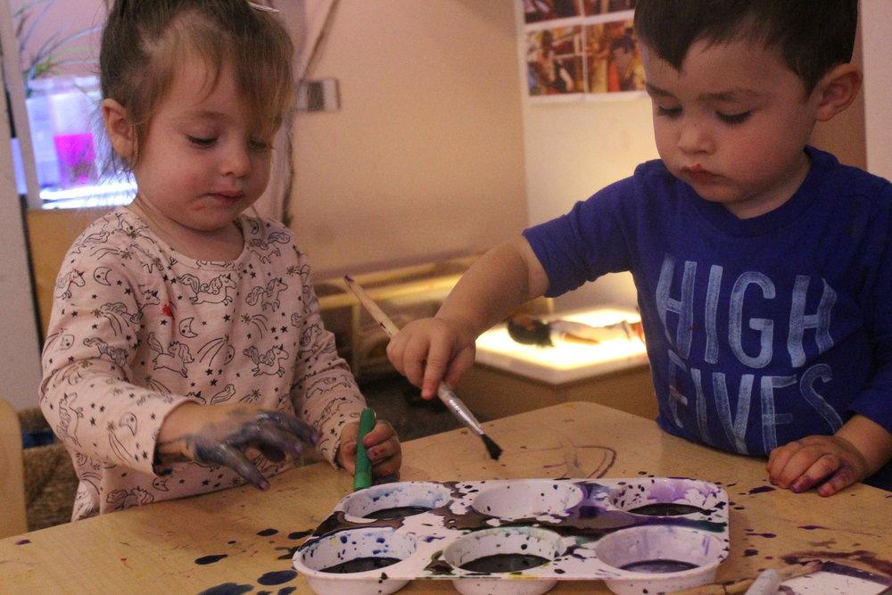 2A painting Nina's birthday present!
