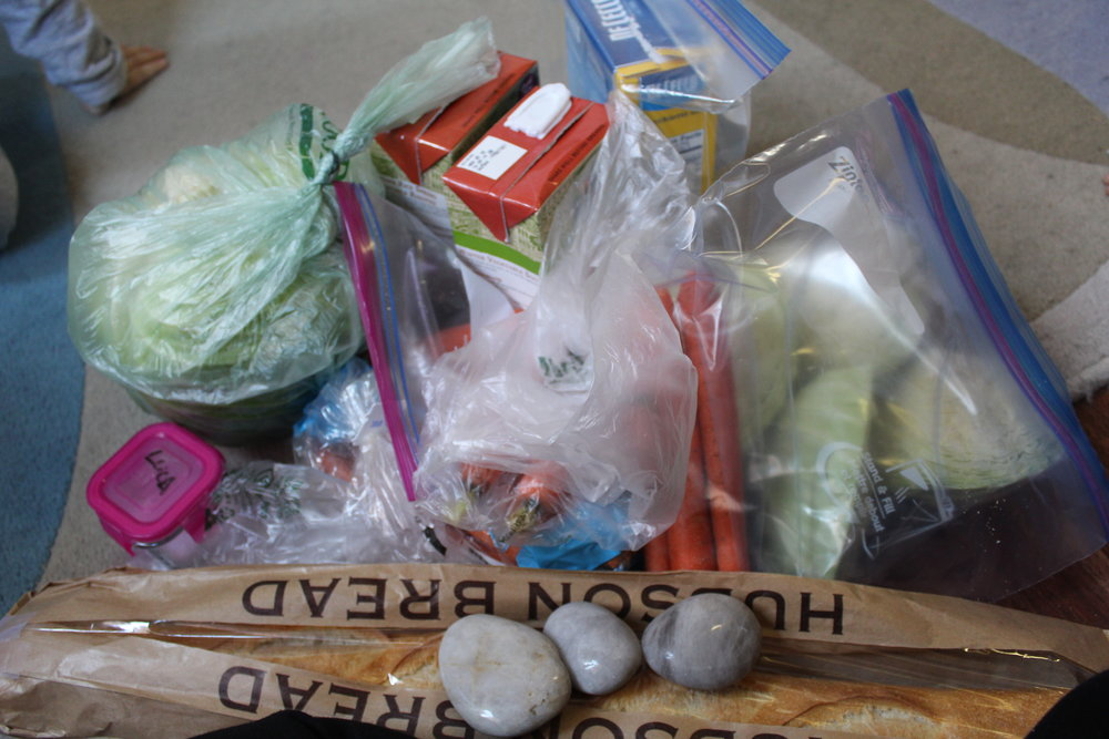 All our ingredients needed for stone soup...yum!