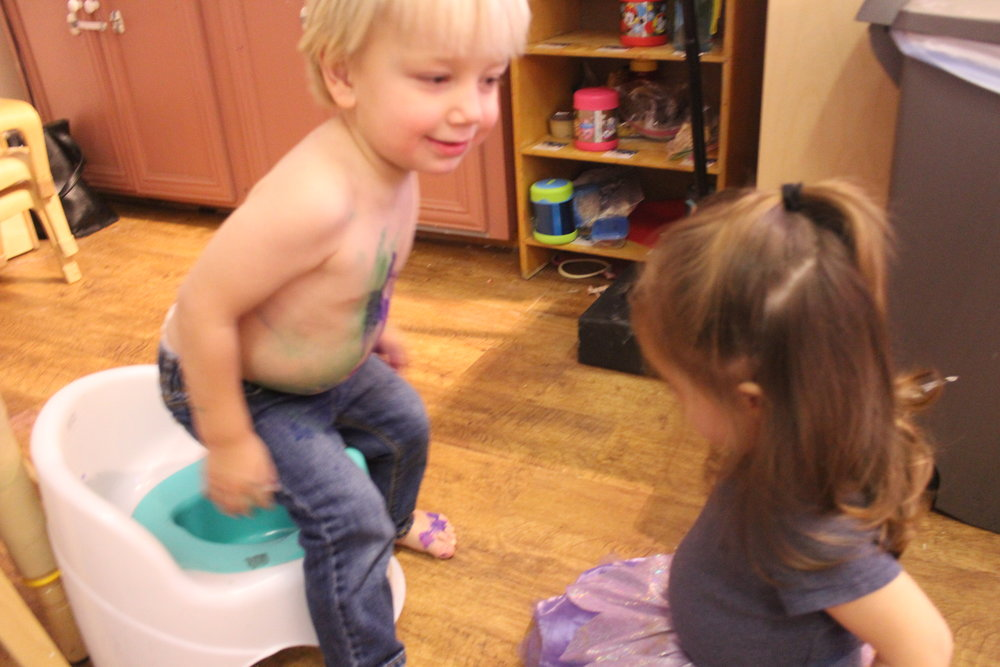 Supporting one another in potty adventures