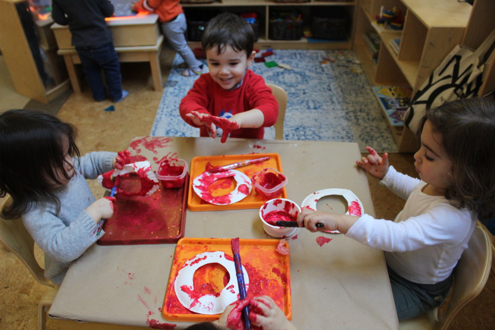 Painting Valentine Wreaths!