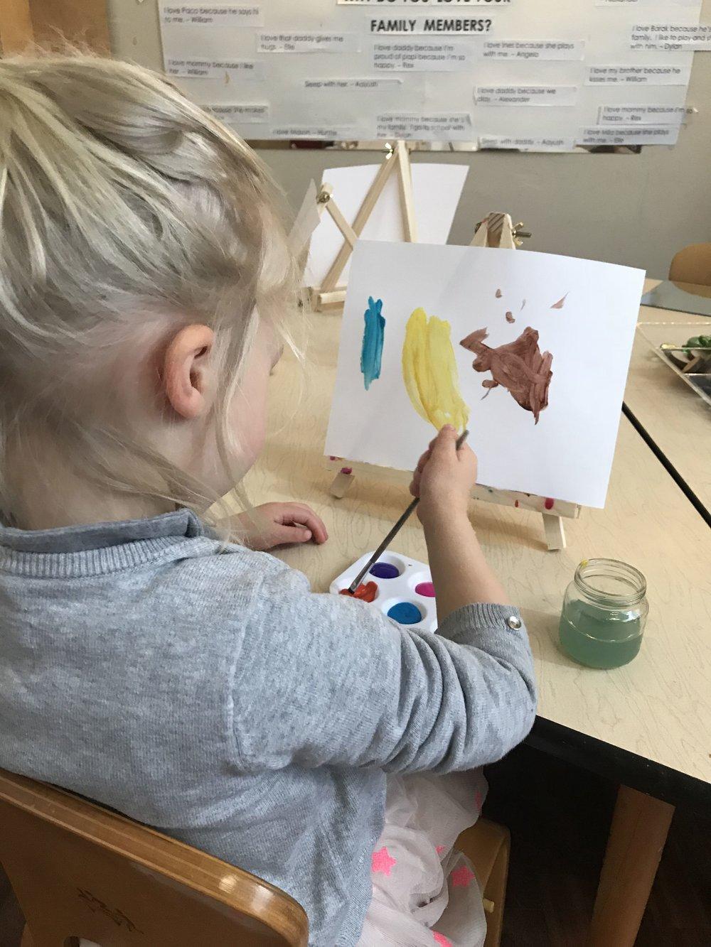 """""""I painted a banana!"""" - Charlie"""