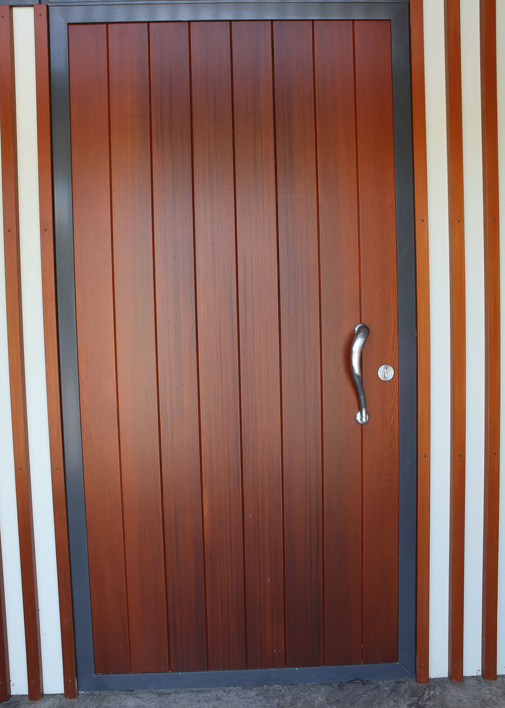Cedar tongue and groove entrance door